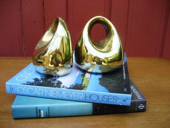 Fabulous Brass Ben seibel Bookends By Jenfredware
