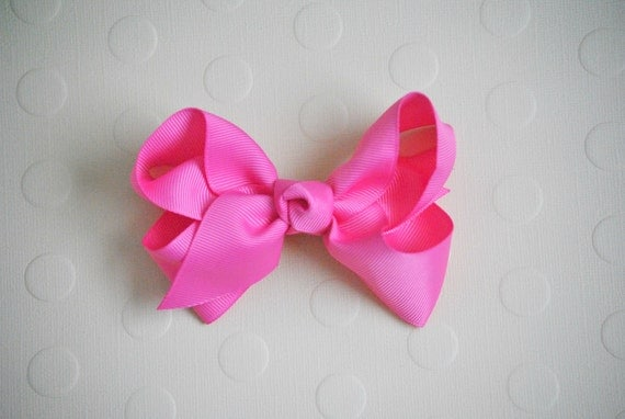 SpEcIal-1.00 Bow-HOT PINK Hair Bow