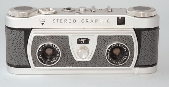 RESERVED -- Vintage Wray Stereo Graphic 3D Camera, Tag 1049