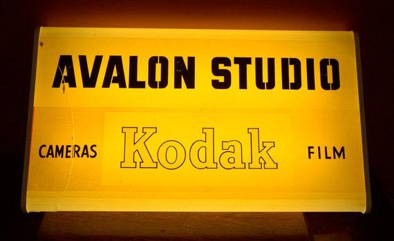 RESERVED - Vintage Kodak Avalon Studio Light Up Sign, Tag 2059