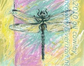 Dragonfly 2 - limited edition, hand signed - dated print
