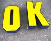 Vintage sign letters  OK