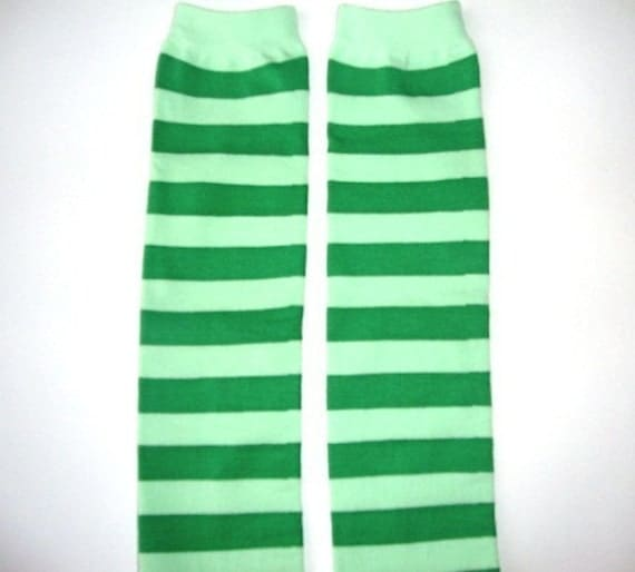 BMOD MERMAID GREEN STRIPE LEG WARMERS