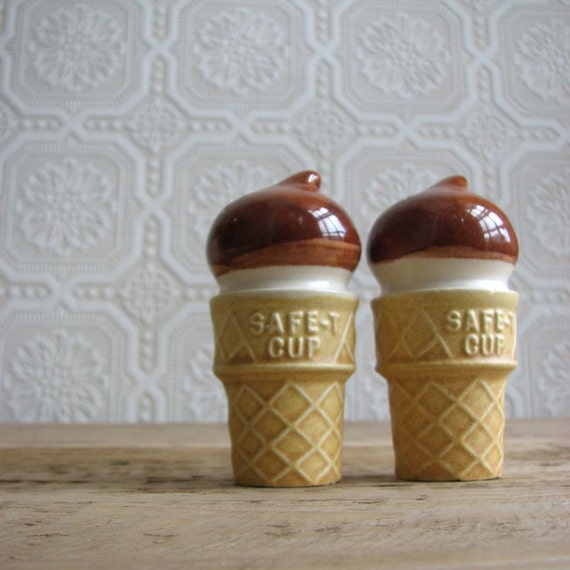 Vintage Ice Cream Salt and Pepper Shakers