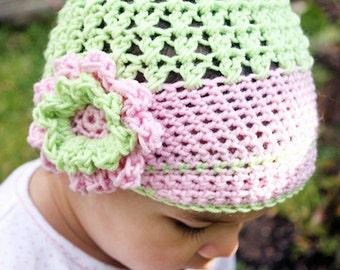 0 to 3m Newborn Girl Newsboy Hat, Flower Hat, Baby Hat, Baby Shower Gift, Lime Green Baby Pink Newborn Flower Photo Prop  Baby Gift