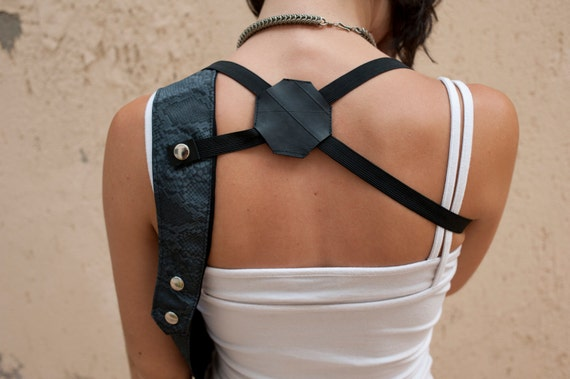 holster shoulder bag piton pleather