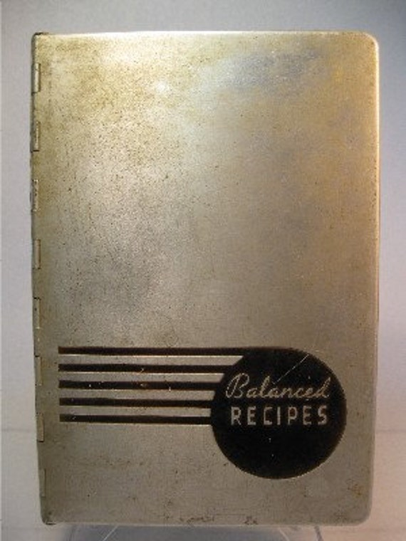 Balanced Recipes by Pillsbury, 1933 aluminum cover cookbook