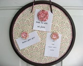Round Magnet Board - Pink and Brown with Flower magnets