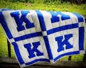 Kentucky K Baby Quilt or Wall Hanging - Free Shipping