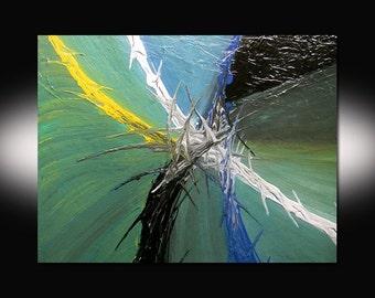 DanielBrunosArts - Abstract painting - Original - ( 18'' x 24''  x1.5'' deep )