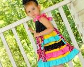 Wild Side Ruffle Flutter Sleeve Dress Sizes 6, 7, 8
