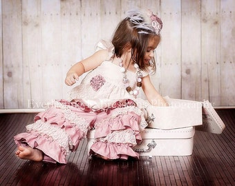 Girls Easter Outfit, Girls Special Occasion Girls clothing, Girls Ruffle Pants, Girls Lace Top, Girls Ruffles and Lace, Ruffle Lace Pants