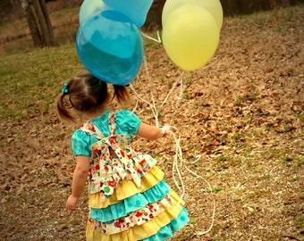 Girls Party Dress, Birthday Dress, Sweets Dress, Candy Dress, Girls Dress, Ice Cream Dress, Toddler Dress, Retro Dress, Lollipop Dress
