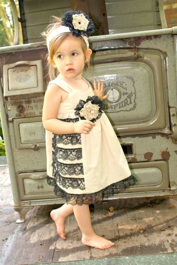 Girls Dress, Dress, Vintage Dress, Toddler Dress, Photo Prop, Flower Girl Dress, Wedding Dress, Fall Wedding, Tea Stained, Tea Party Dress