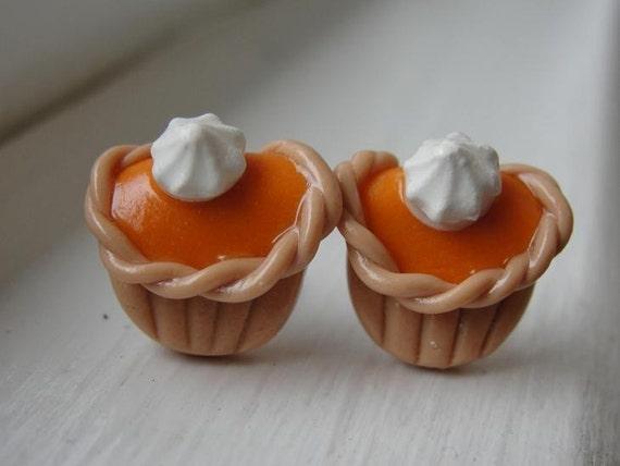 Pumpkin Pie Cupcake Earrings