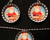 Rudolph Bottlecap Jewelry Set