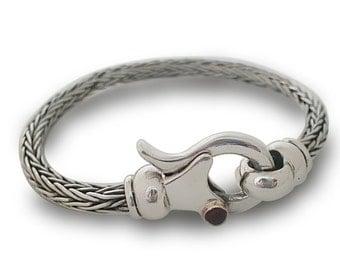 MENS SILVER BRACELET, Bracelet Braided, handmade Silver, Israeli jewelry, Handmade Bracelet, Silver Braided Beacelet ooak , silver handmade