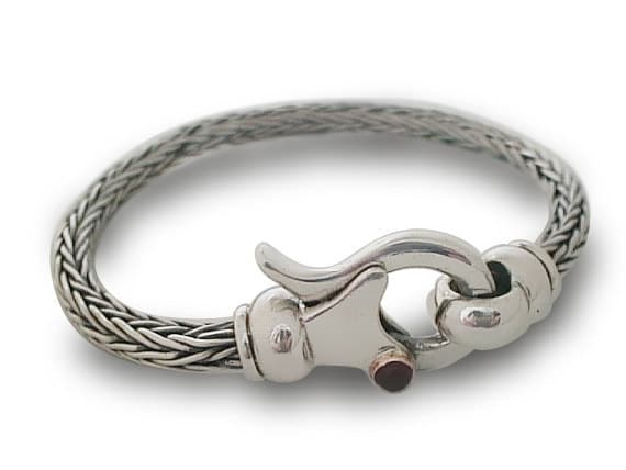 MENS SILVER BRACELET Bracelet Braided handmade Silver