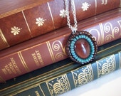 SALE - Necklace - Carnelian Cabochon Beadwork