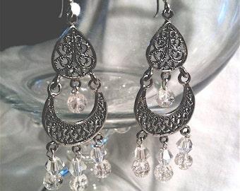 Ice Crystal Chandelier Earrings