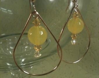 Mellow Yellow Chandelier Earrings