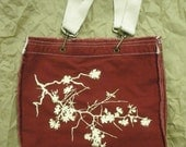 Cherry Blossoms Raw-edge Tote bag - Choose your own color