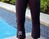 Om Capri Yoga Pants - CHOOSE YOUR OWN Size, Color