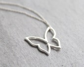 Graceful - sterling silver butterfly necklace, silver butterfly necklace, small butterfly, butterflies