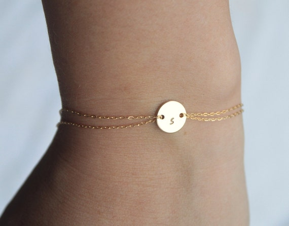 Monogram bracelet  - 14k gold fill