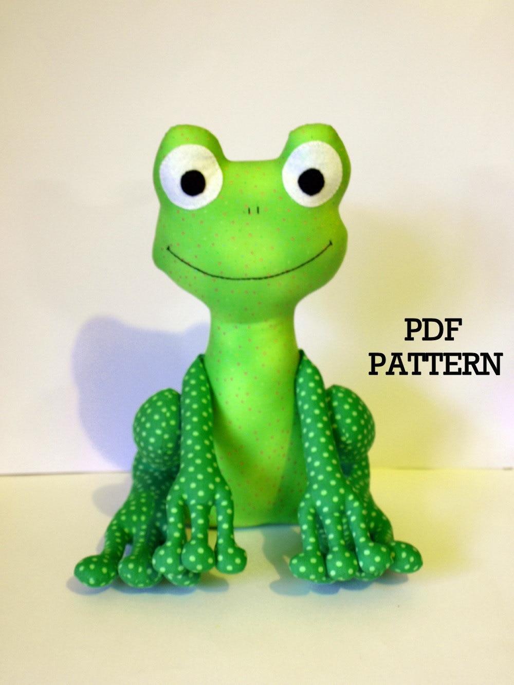 frog pdf sewing pattern soft toy direct download. Black Bedroom Furniture Sets. Home Design Ideas