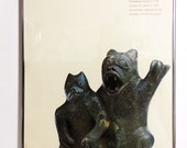 1973 Inuit Sculpture Exhibition Poster by Canadian Eskimo Arts Council