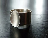 modern wide band ring silver band contemporary jewelry