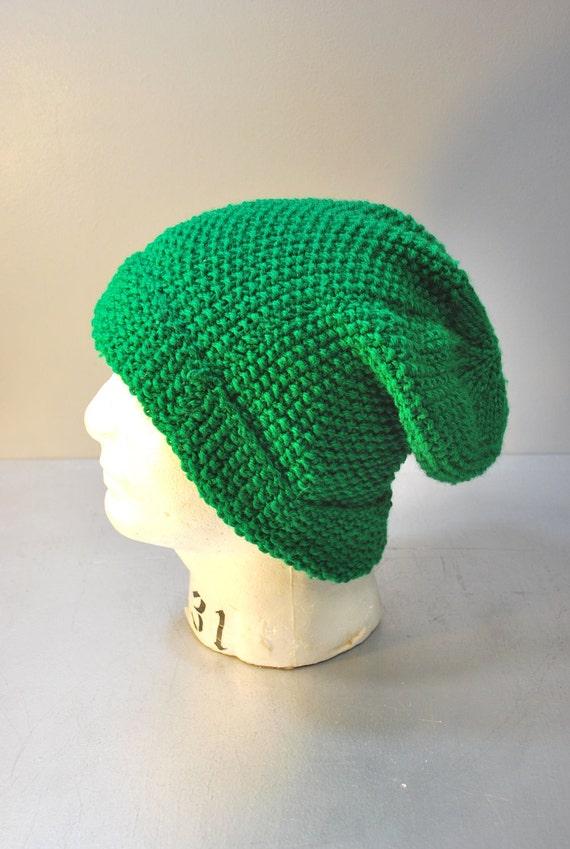 Vintage Handmade Crochet Slouchy Winter Hat / Beanie / Sock Hat / Ski / Snowboard / Men / Women / Accessory / Gift