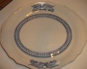 Syracuse China Serving Platter  Blue Bald Eagle