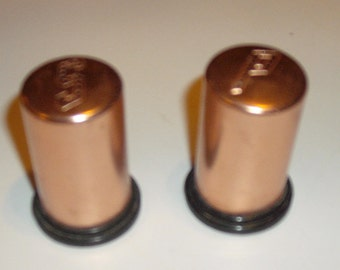 Vintage Anodized Aluminum Salt and Pepper Shakers