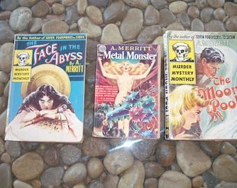 Vintage Pulp Fiction Mystery's, Merritt