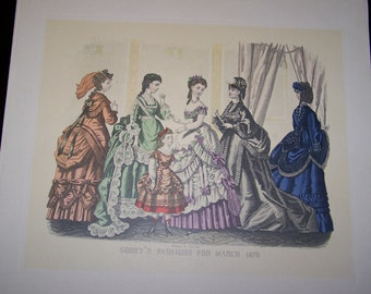 4 Vintage Clothing Woman's Fashions Prints
