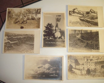 Set of 7 unused WWI Postcards