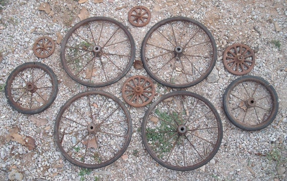 Vintage Spoked Wheel Collection Baby Buggy By Lasosantiques