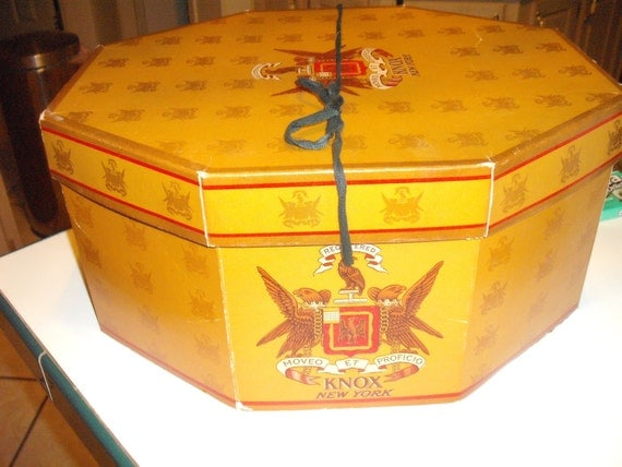 Vintage Knox Hat Box