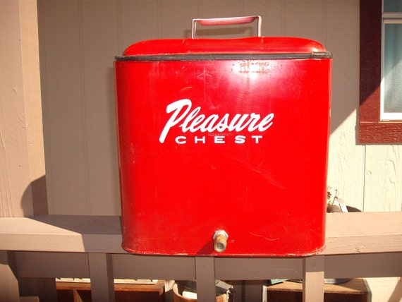 Vintage Ice Chest Cooler, 'The Pleasure Chest'