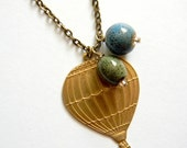 Way To Blue Hot Air Balloon Necklace