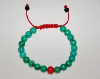 Tibetan Turquoise Wrist mala for meditation
