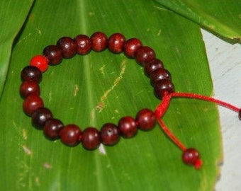 Rosewood wrist mala/ bracelet for meditation