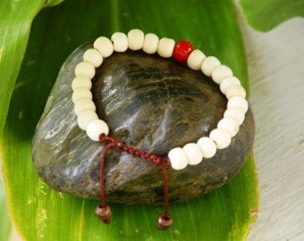 Yak Bone wrist mala/ Bracelet for meditation