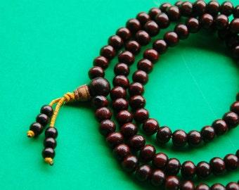 Tibetan Rosewood mala 8mm 108 beads for meditation