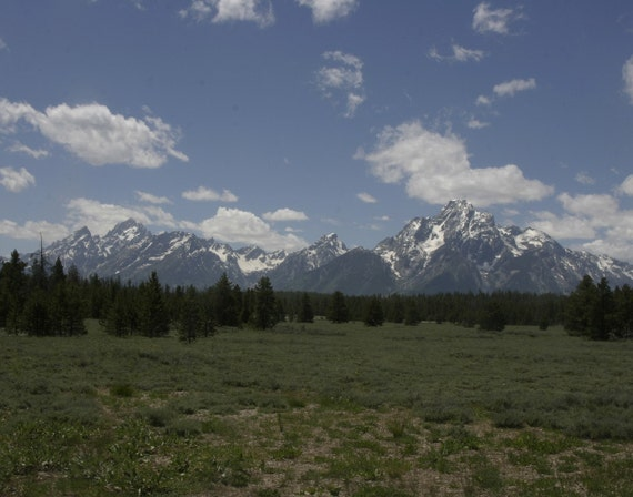 The Grand Tetons in Summer 8x10 Print