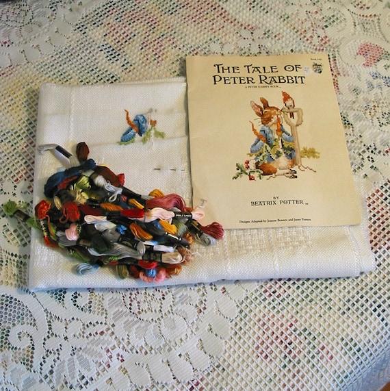 Peter Rabbit Baby Afghan Kit 12 Beatrix Potter Cross Stitch