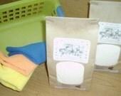 Natural VEGAN  Laundry Detergent--250 to 500 Loads--Fantastic on Cloth Diapers--2 JUMBO Bags and FREE Bonus Bag