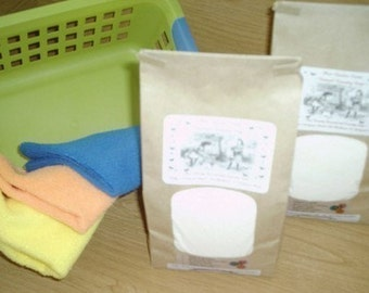Natural VEGAN  Laundry Detergent--250 to 500 Loads--Fantastic on Cloth Diapers--2 JUMBO Bags and FREE Bonus Bag